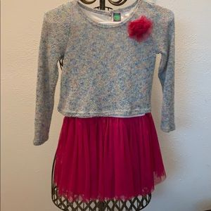 Dollie & Me Pink Dress with layered sweater